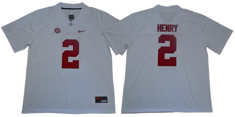 Alabama Crimson Tide 2 Derrick Henry White Nike College Football Jersey