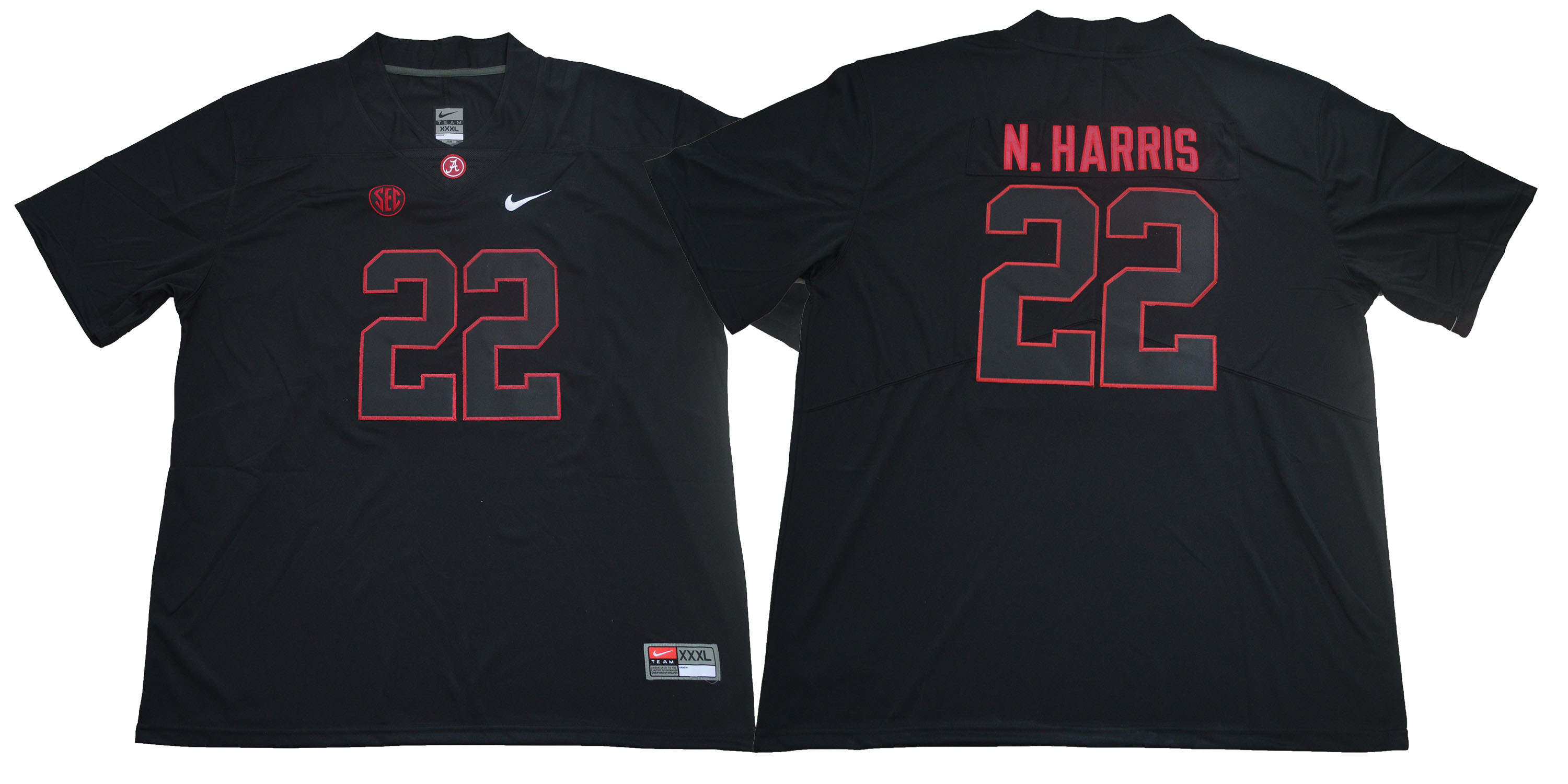 Alabama Crimson Tide 22 Najee Harris Black Nike College Football Jersey
