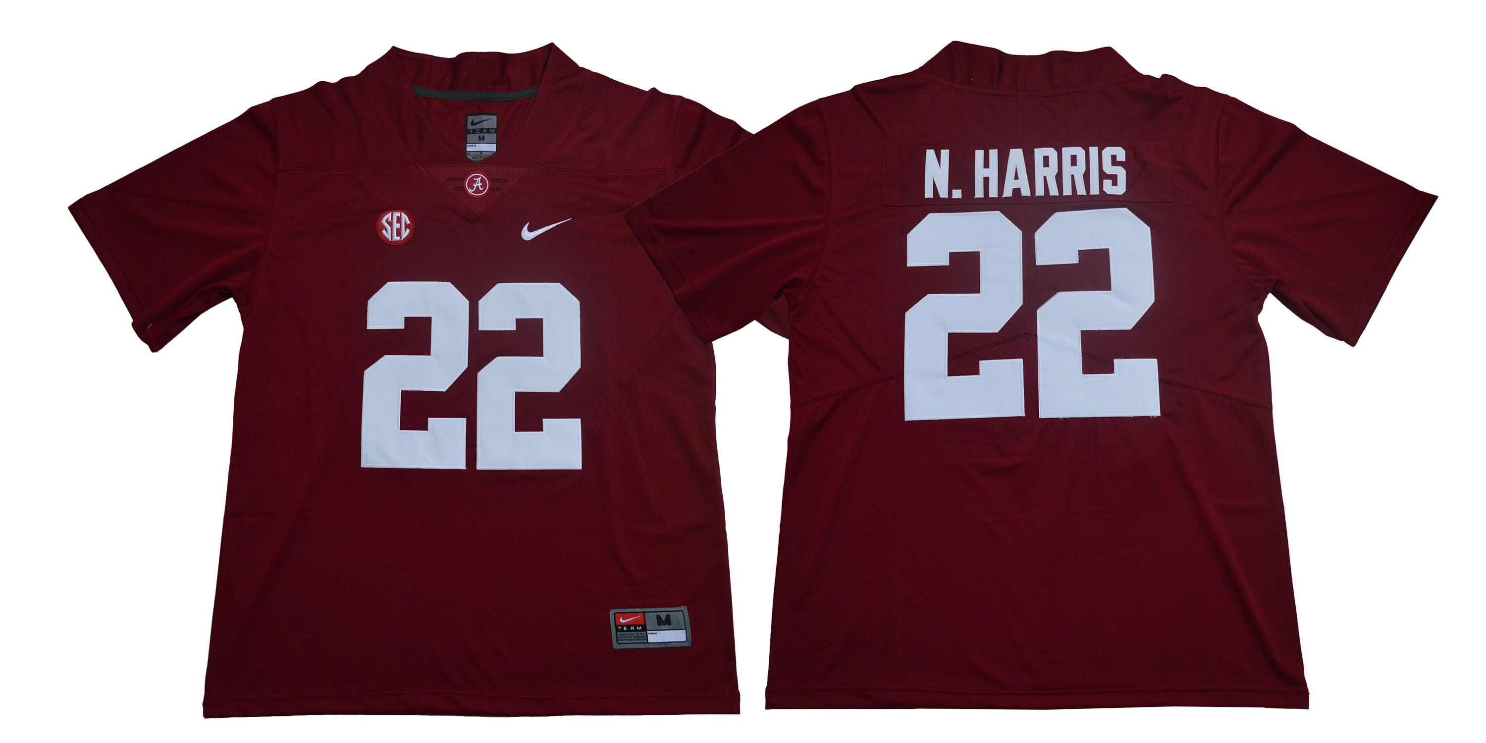 Alabama Crimson Tide 22 Najee Harris Red Nike College Football Jersey