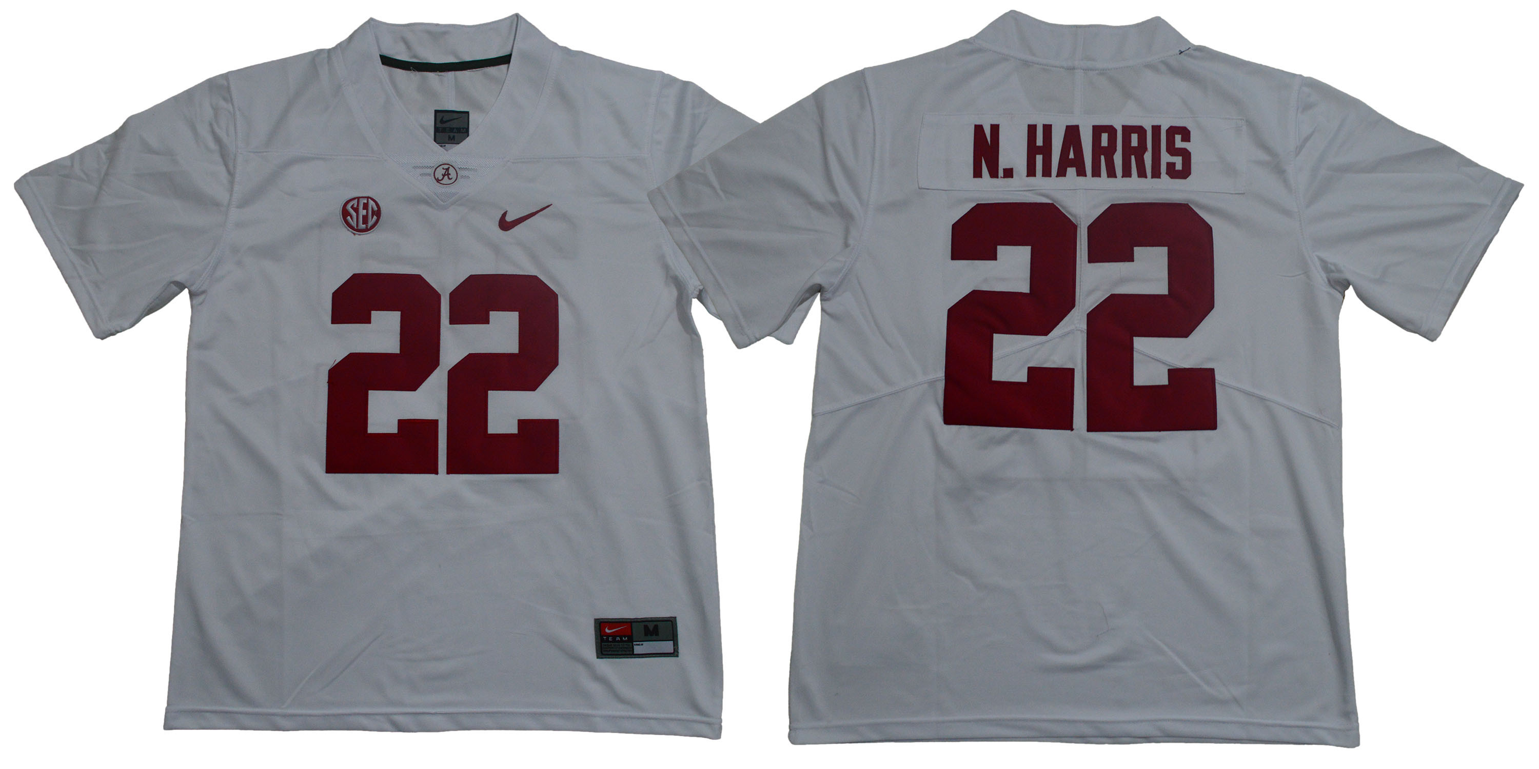 Alabama Crimson Tide 22 Najee Harris White Nike College Football Jersey