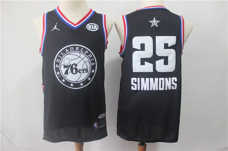 76ers 25 Ben Simmons Black 2019 All-Star Game Jordan Brand Swingman Jersey