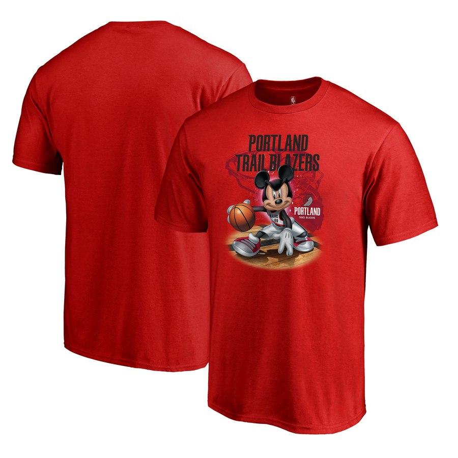Portland Trail Blazers Fanatics Branded Disney NBA All-Star T-Shirt Red