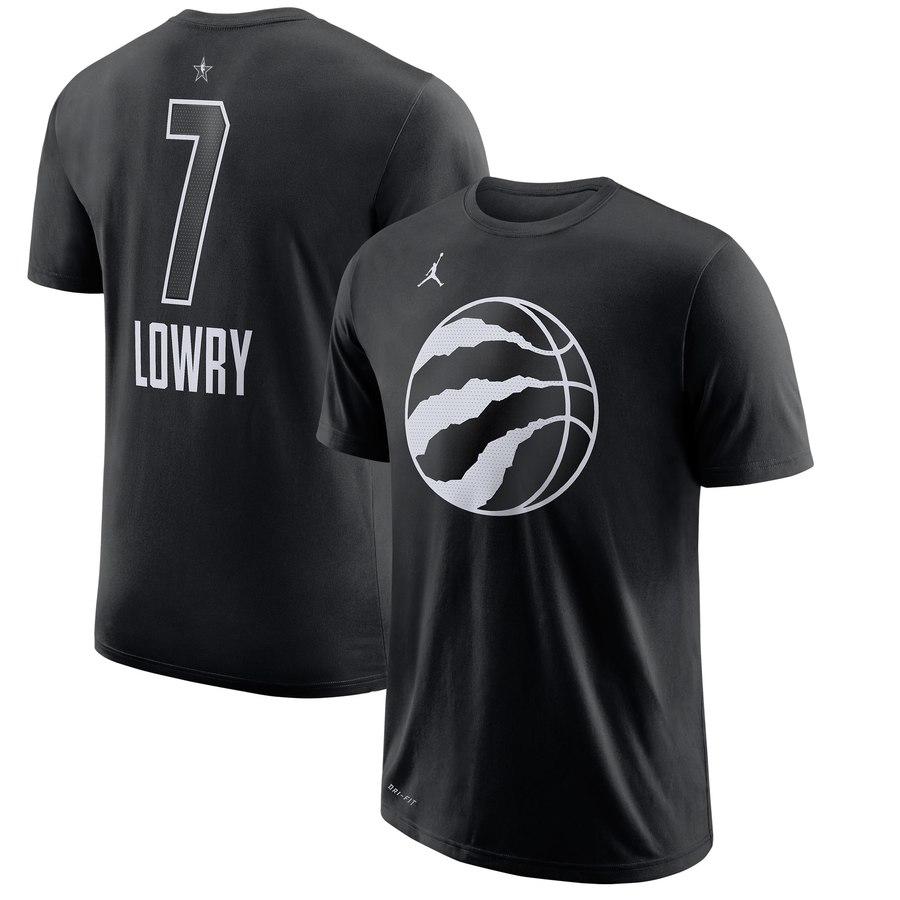 Toronto Raptors 7 Kyle Lowry Jordan Brand 2018 All-Star Game Name & Number Performance T-Shirt Black