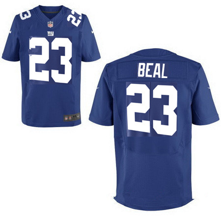 Nike Giants 23 Beal Royal Elite Jerse