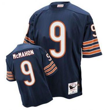 Bears 9 Jim McMahon Navy M&N Throwback Jersey