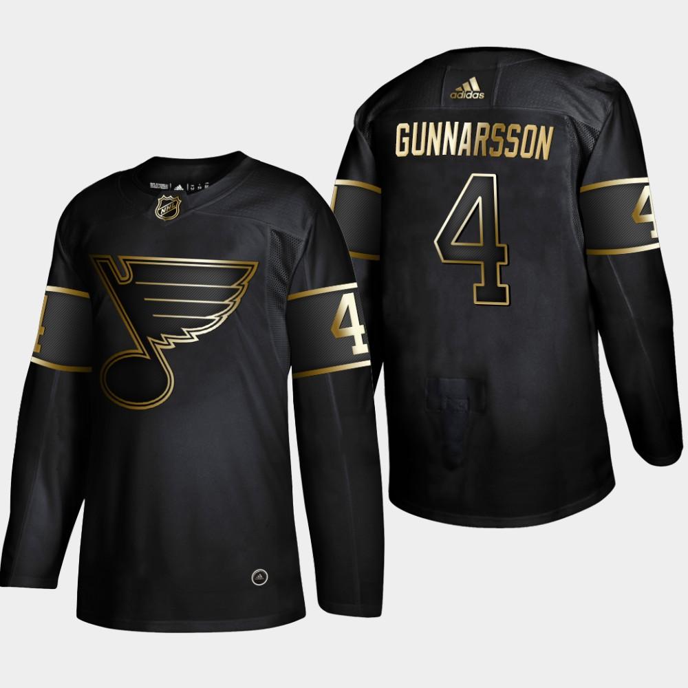 Blues 4 Carl Gunnarsson Black Gold Adidas Jersey