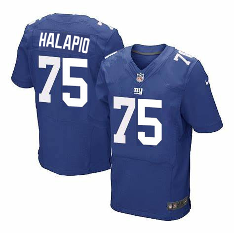Nike Giants 75 Halapio Royal Elite Jersey