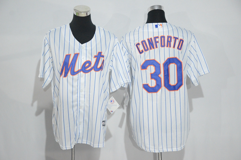 Mets 30 Michael Conforto White Youth Cool Base Jersey