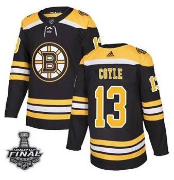 Bruins 13 Charlie Coyle Black 2019 Stanley Cup Bound Final Adidas Jersey