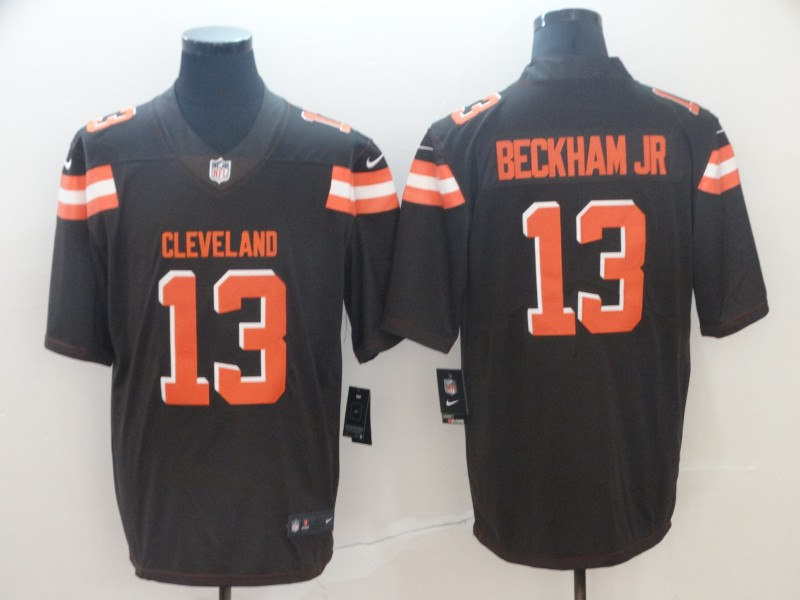 Nike Browns 13 Odell Beckham Jr Brown Vapor Untouchable Limited Jersey