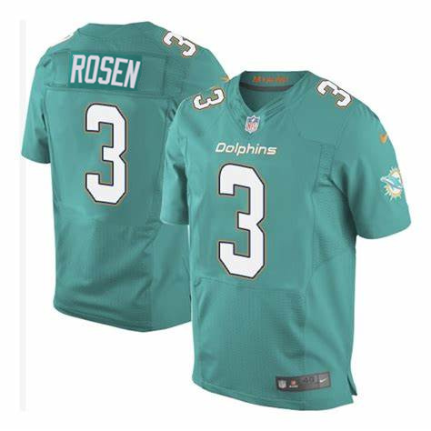 Nike Dolphins 3 Josh Rosen Aqua Elite Jersey