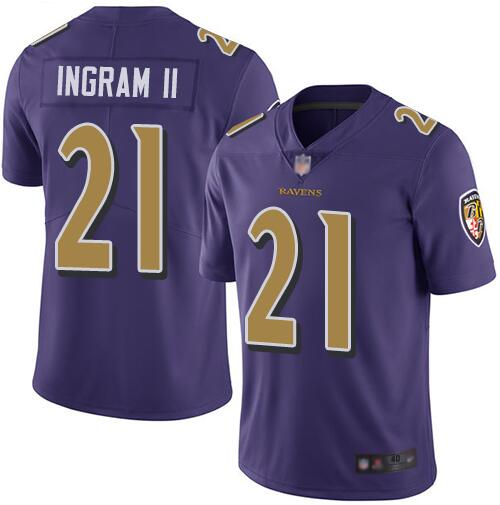 Nike Ravens 21 Mark Ingram II Purple Color Rush Limited Jersey