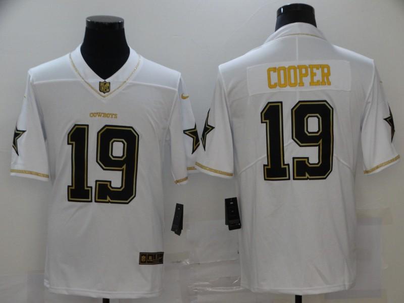 Nike Cowboys 19 Amari Cooper White Gold Vapor Untouchable Limited Jersey