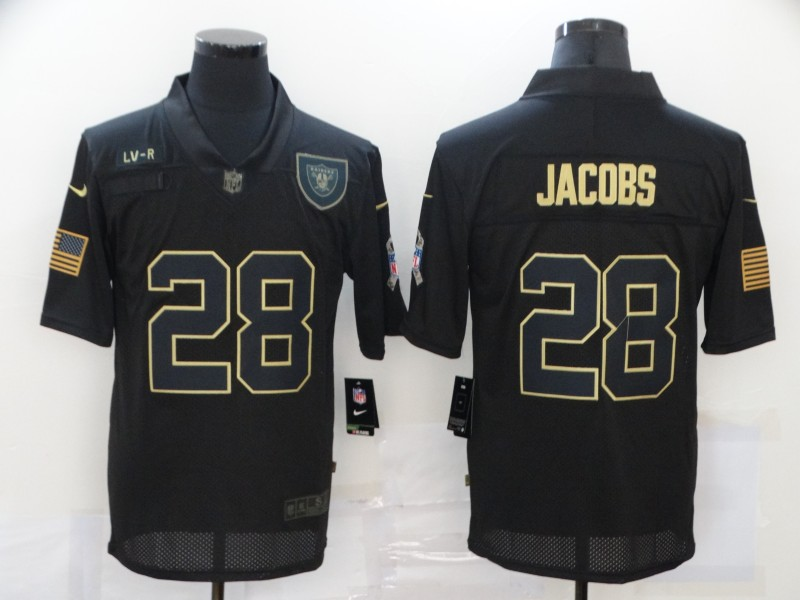 Nike Raiders 28 Josh Jacobs Black 2020 Salute To Service Limited Jersey