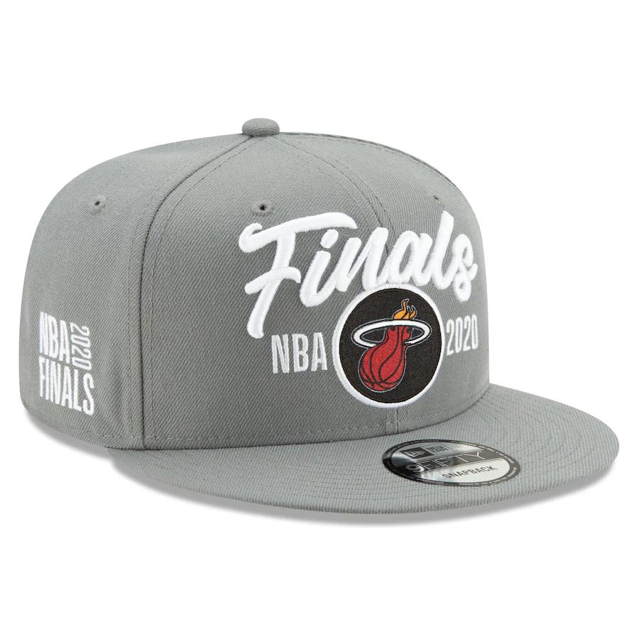 Heat Team Logo 2020 NBA Finals Gray Adjustable Hat SG