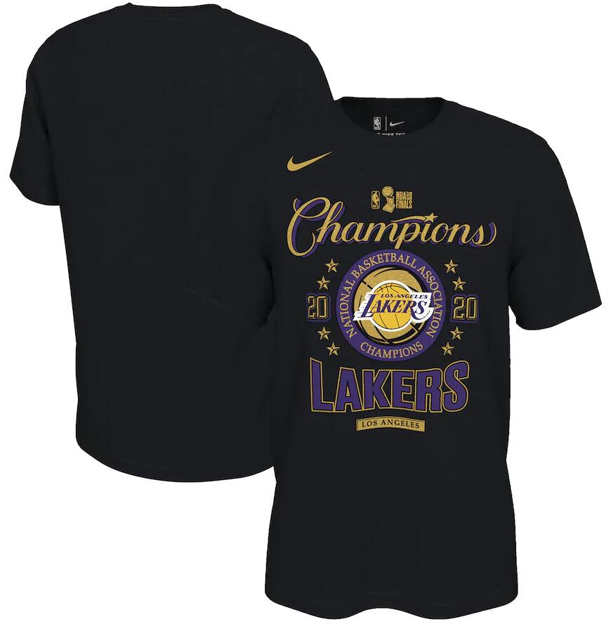 Men's Los Angeles Lakers Nike Black 2020 NBA Finals Champions Locker Room T-Shirt