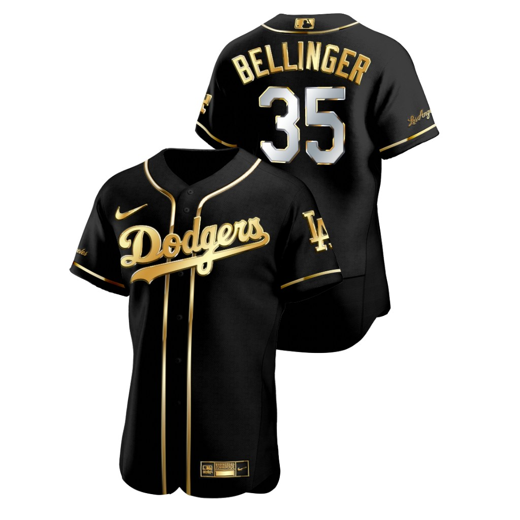 Dodgers 35 Cody Bellinger Black Gold 2020 Nike Flexbase Jersey