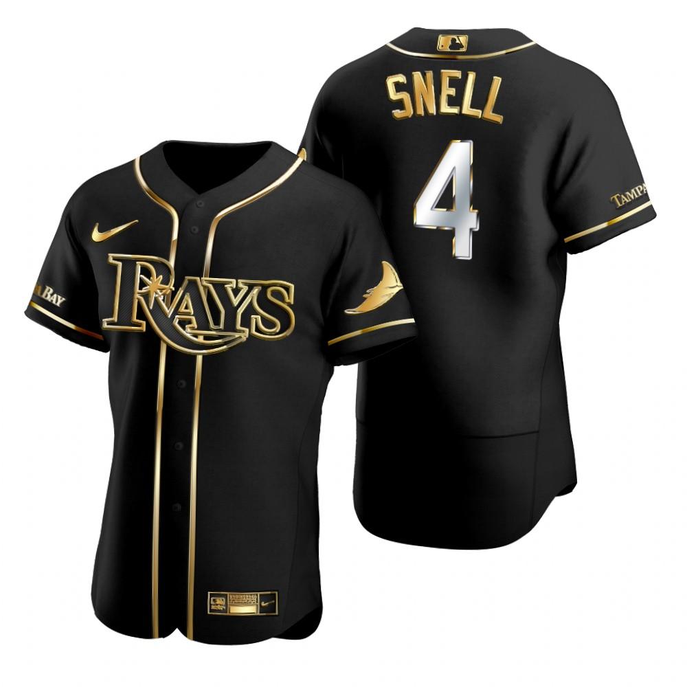 Rays 4 Blake Snell Black Gold 2020 Nike Flexbase Jersey