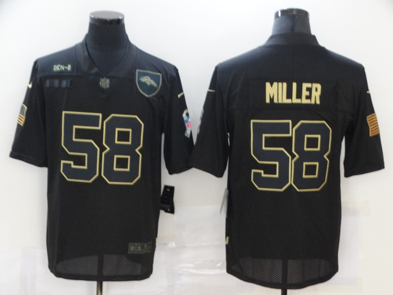 Nike Broncos 58 Von Miller Black 2020 Salute To Service Limited Jersey