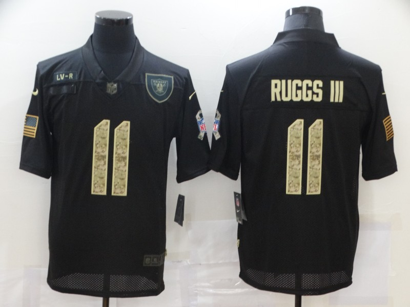 Nike Raiders 11 Henry Ruggs III Black Camo 2020 Salute To Service Limited Jersey