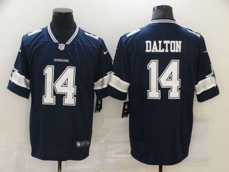 Nike Cowboys 14 Andy Dalton Navy Vapor Untouchable Limited Jersey