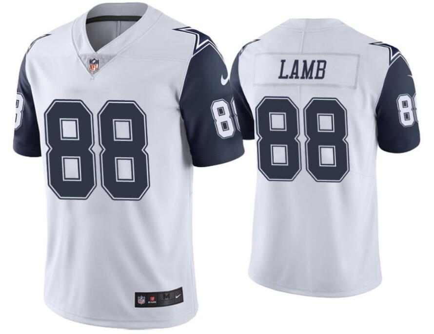 Nike Cowboys 88 Ceedee Lamb White Color Rush Limited Jersey