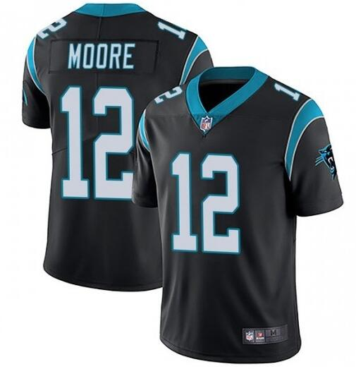 Nike Panthers 12 DJ Moore Black Vapor Untouchable Limited Jersey