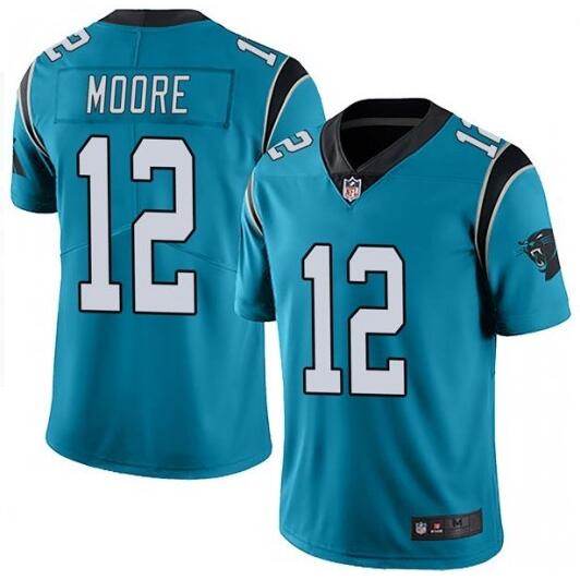 Nike Panthers 12 DJ Moore Blue Vapor Untouchable Limited Jersey