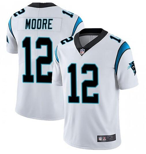 Nike Panthers 12 DJ Moore White Vapor Untouchable Limited Jersey
