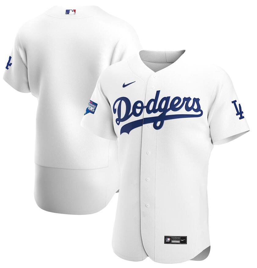 Dodgers Blank White Nike 2020 World Series Champions Flexbase Jersey