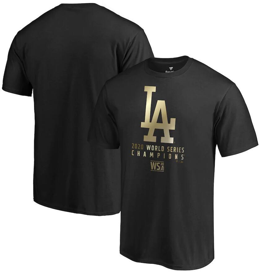 Men's Los Angeles Dodgers Fanatics Branded Black 2020 World Series Champions Parade T-Shirt