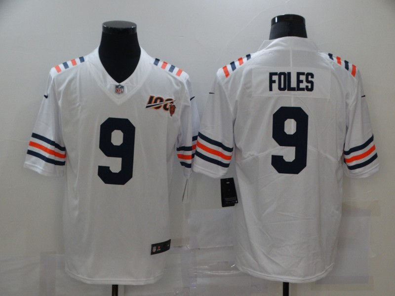 Nike Bears 9 Nick Foles White 100th Season Vapor Untouchable Limited Jersey
