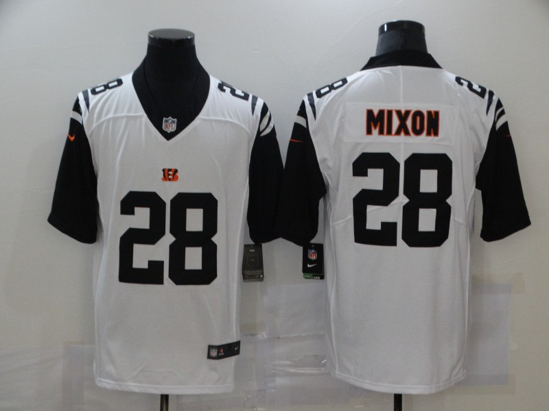 Nike Bengals 28 Joe Mixon White Color Rush Limited Jersey