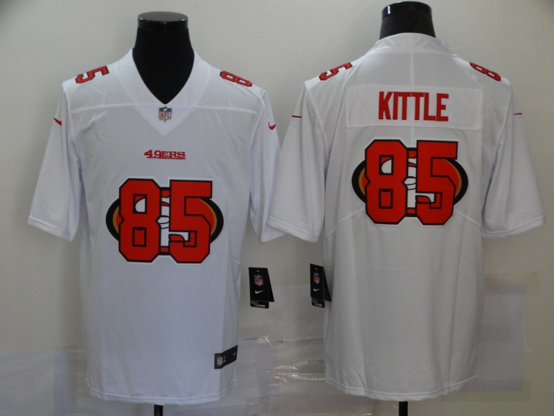 Nike 49ers 85 George Kittle White Shadow Logo Limited Jersey