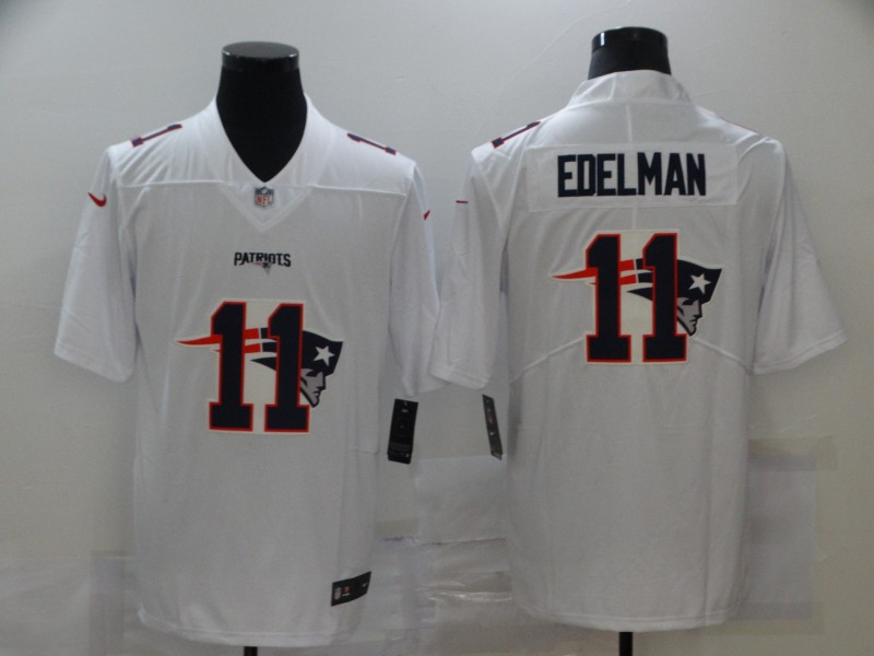 Nike Patriots 11 Julian Edelman White Shadow Logo Limited Jersey