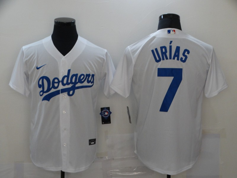 Dodgers 7 Julio Urias White 2020 Nike Cool Base Jersey