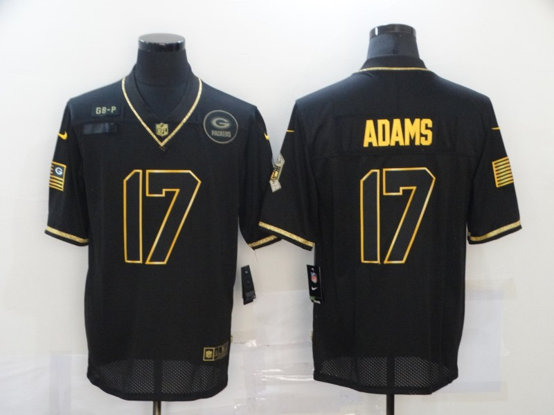 Nike Packers 17 Davante Adams Black Gold 2020 Salute To Service Limited Jersey