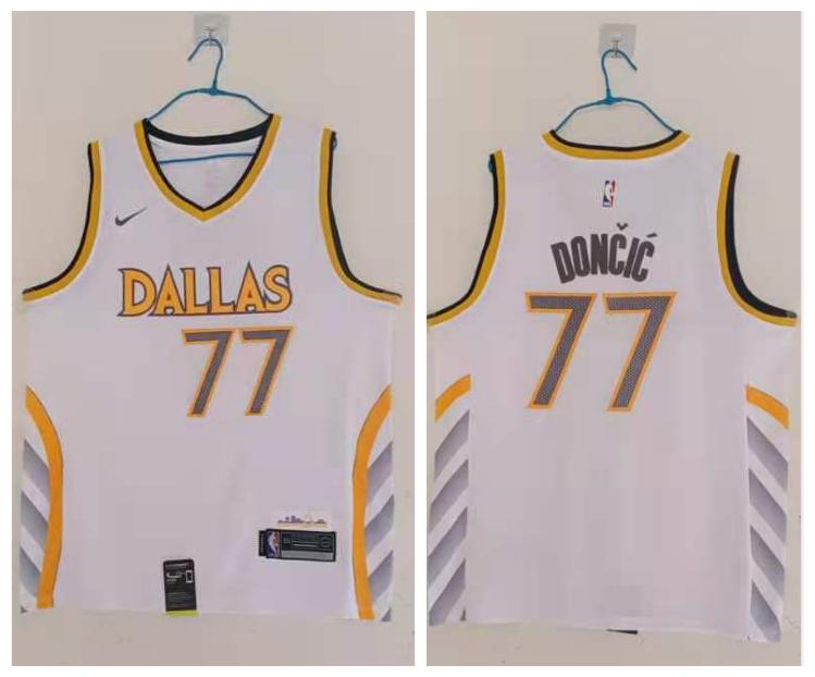 Mavericks 77 Luka Doncic White 2020-21 City Edition Nike Swingman Jersey