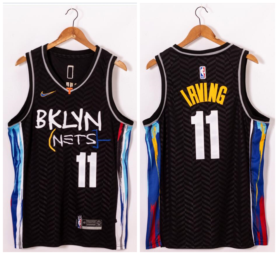 Nets 11 Kyrie Irving Black 2021 Nike Swingman Jersey