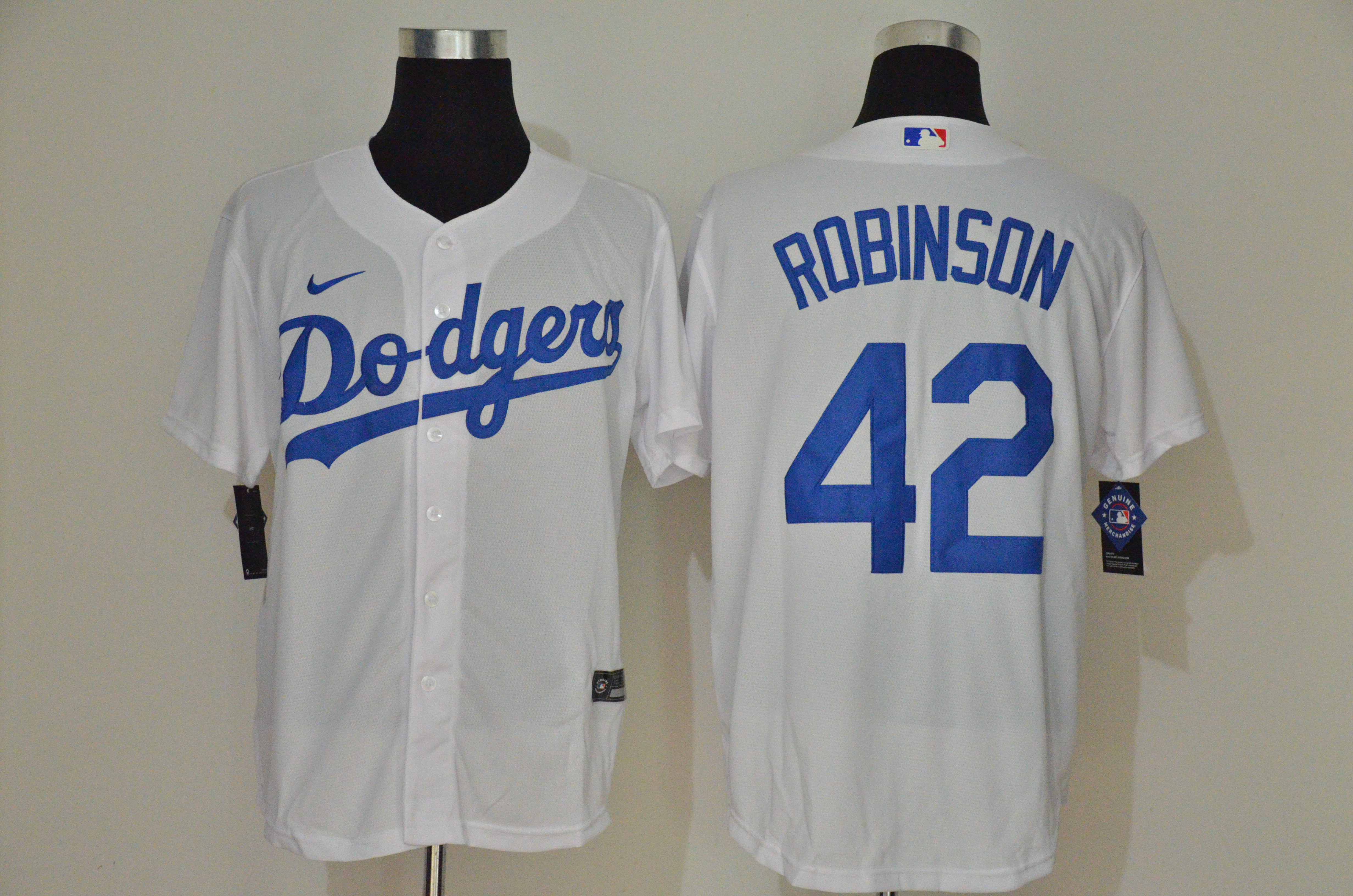 Dodgers 42 Jackie Robinson White 2020 Nike Cool Base Jersey