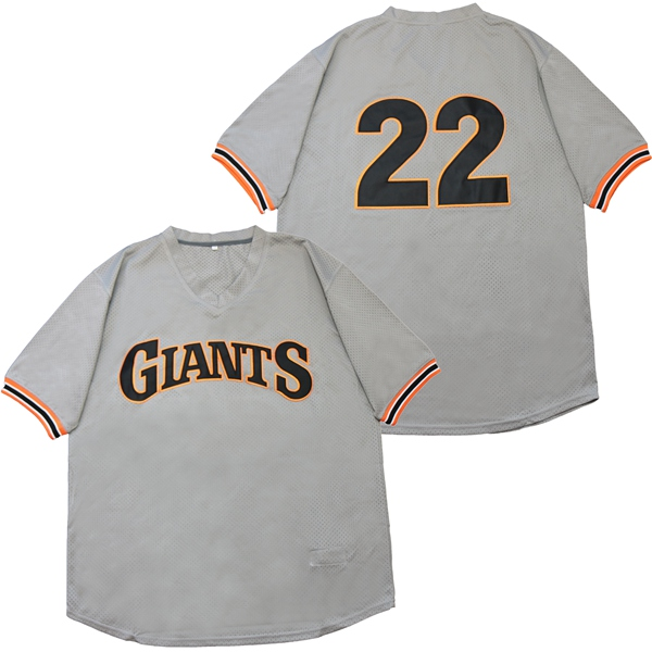 Giants 22 Andrew McCutchen Gray Throwback Jersey