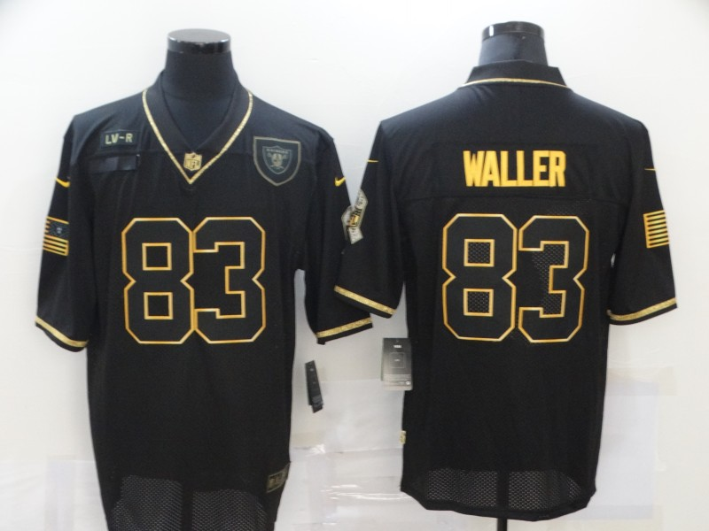 Nike Raiders 83 Darren Waller Black Gold 2020 Salute To Service Limited Jersey
