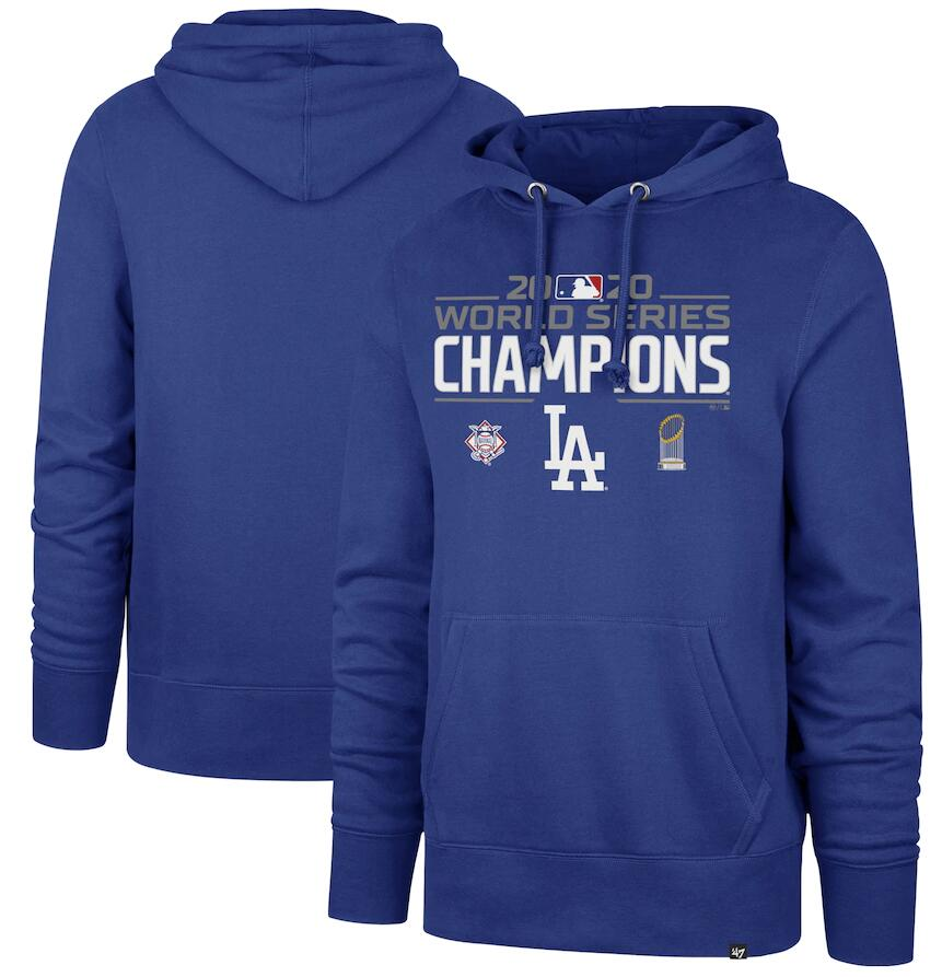 Men's Los Angeles Dodgers '47 Royal 2020 World Series Champions Headline Pullover Hoodie