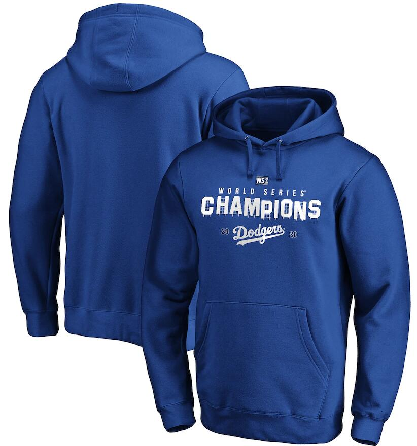 Men's Los Angeles Dodgers Fanatics Branded Royal 2020 World Series Champions Crush The Ball Hometown Pullover Hoodie