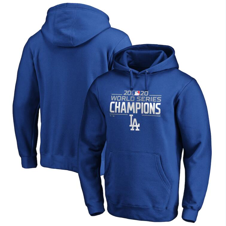 Men's Los Angeles Dodgers Fanatics Branded Royal 2020 World Series Champions Logo Pullover Hoodie