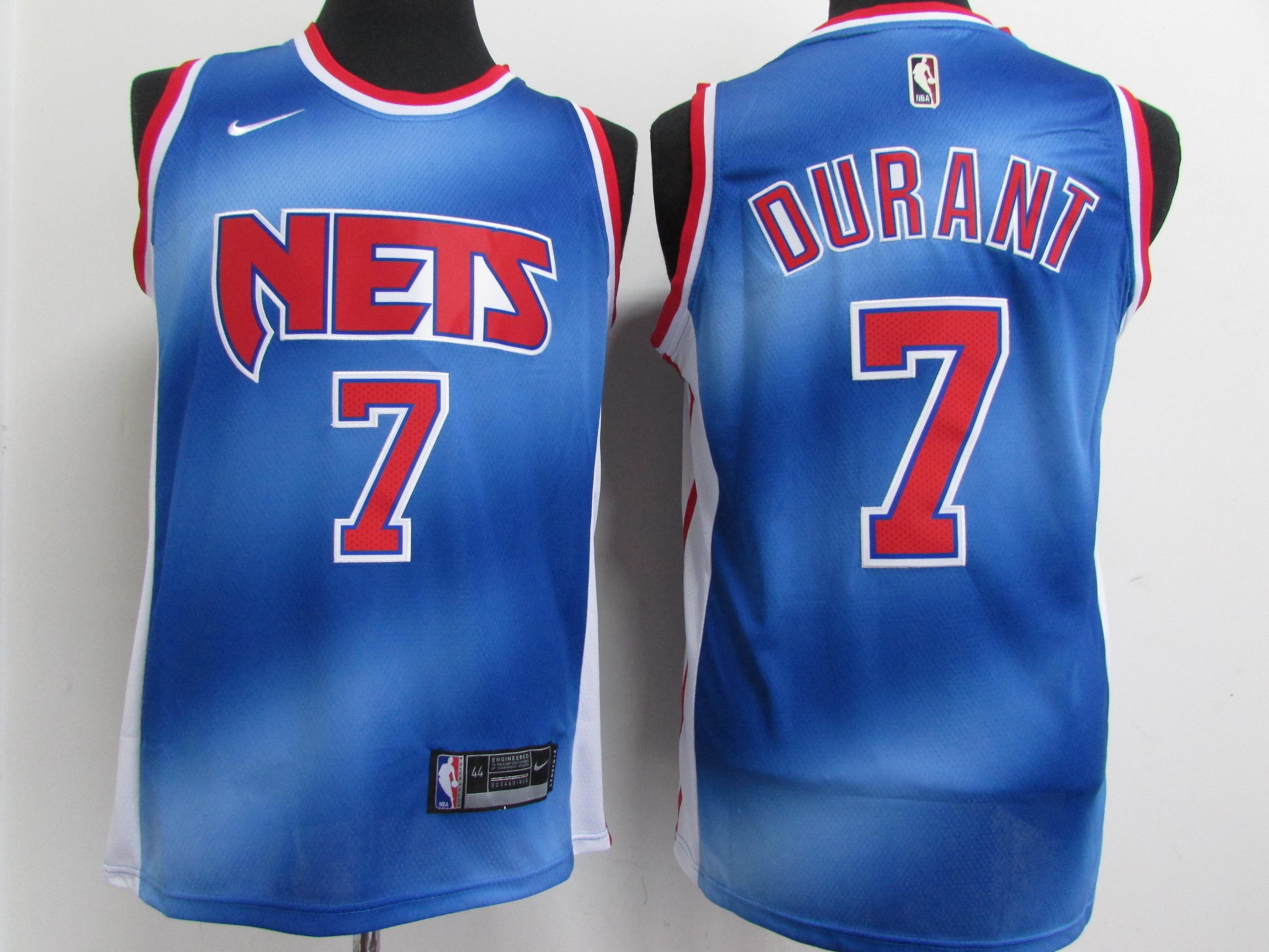 Nets 7 Kevin Durant Blue 2021 Nike Classic Edition Swingman Jersey