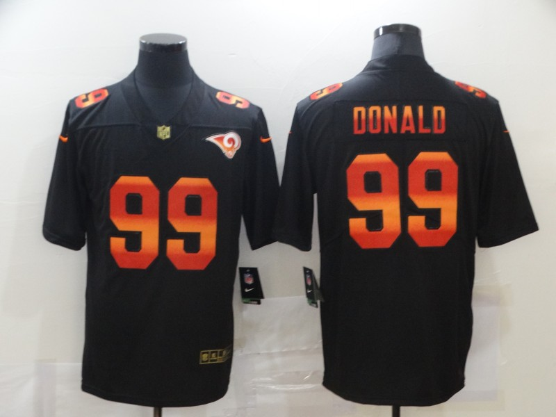 Nike Rams 99 Aaron Donald Black Colorful Fashion Limited Jersey