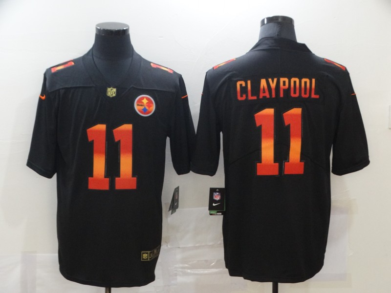 Nike Steelers 11 Chase Claypool Black Colorful Fashion Limited Jersey