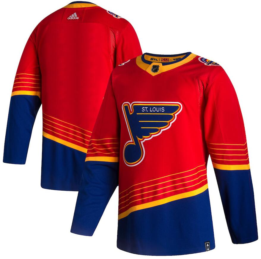 Blues Blank Red 2020-21 Reverse Retro Adidas Jersey