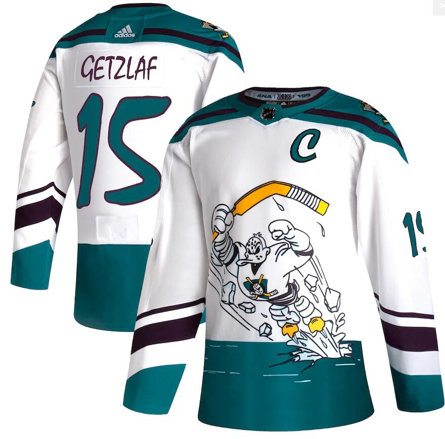 Ducks 15 Ryan Getzlaf White 2020-21 Reverse Retro Adidas Jersey